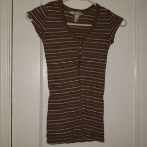 Striped Aeropostale T-shirt brown